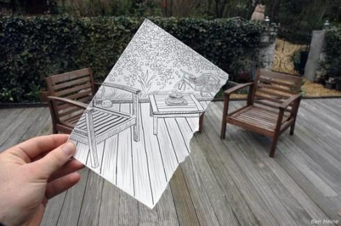 7 Gambar Dunia Nyata Campur Pensil